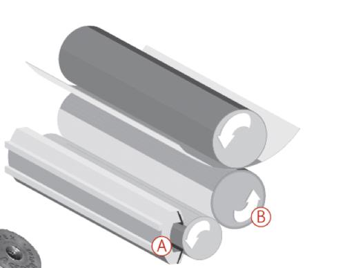 Transfiere una cantidad determinada de tinta de A a B